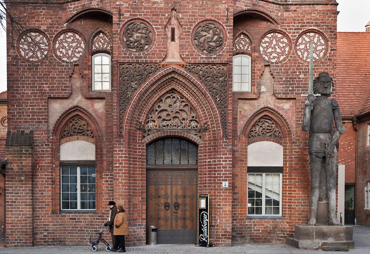 Brandenburg, Altstadtrathaus von Süden, Detail