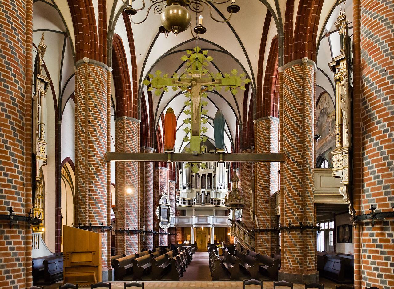 Brandenburg, St. Gotthardt. Inneres nach Westen