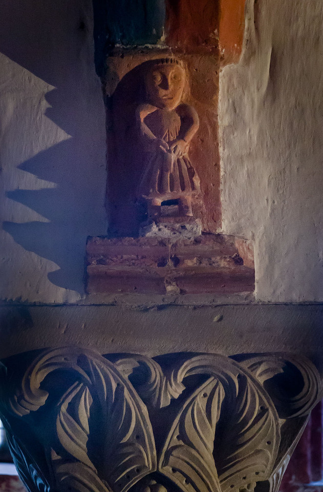 Brandenburg, Dom. Krypta: Konsolfigur aus Backstein