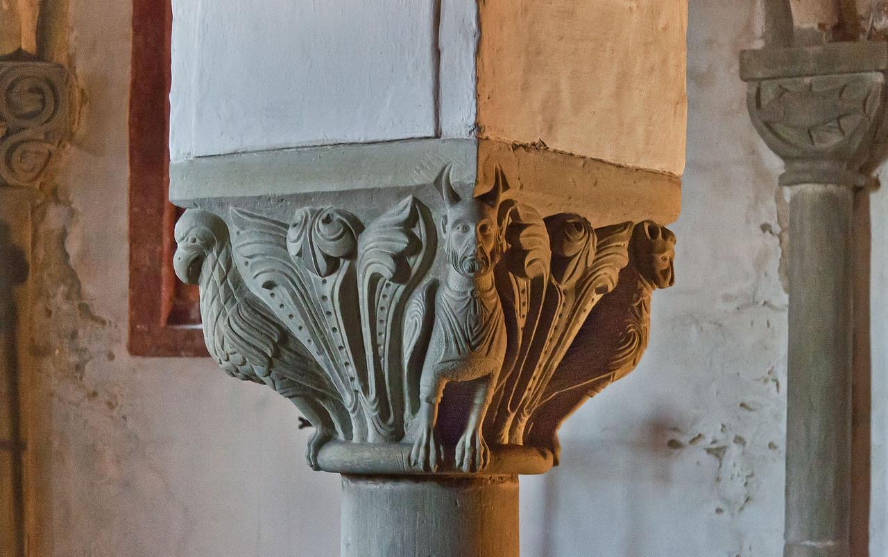 Brandenburg, Dom. Krypta: Evangelistenkapitell