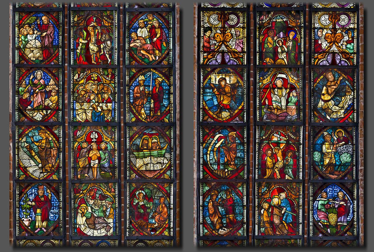 Brandenburg/Havel, Paulikloster. Chorscheitelfenster Zeilen 2-8 (um 1340)