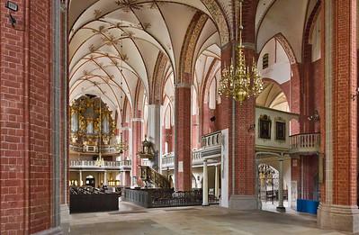 Brandenburg, St. Katharinen. Inneres nach Nordwesten