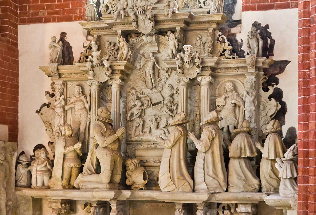 Brandenburg, St. Katharinen. Epitaph Bernd von der Schulenburg (1601)