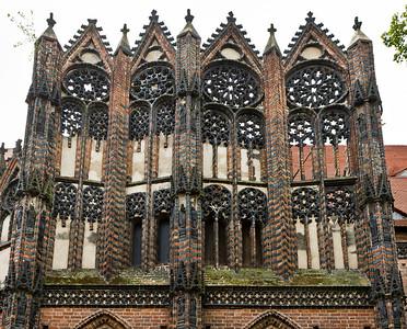 Brandenburg, St. Katharinen. Nordkapelle von Norden: Maßwerkgiebel