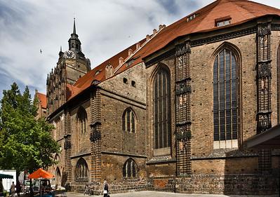 Brandenburg, St. Katharinen. Chor und Sakristei von Südosten