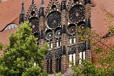 Brandenburg, St. Katharinen. Südl. Maßwerkgiebel