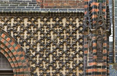 Brandenburg, St. Katharinen. Nordkapelle, Detail an der Nordseite