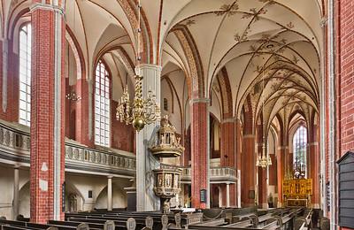 Brandenburg, St. Katharinen. Inneres nach Nordosten