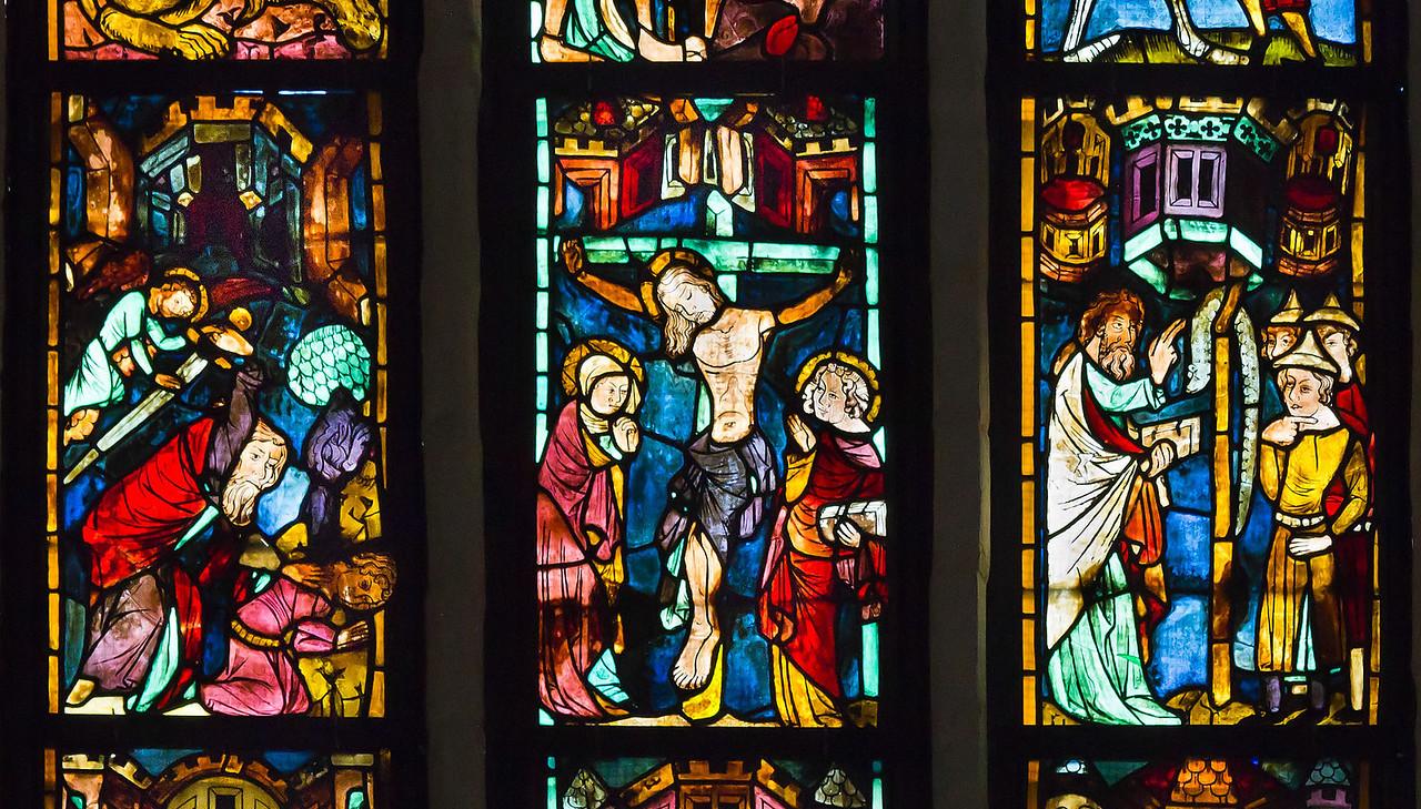 Christusf. I z8: Abraham opfert Isaak / Kreuzugung Jesu / Aufrichtung der ehernen Schlange