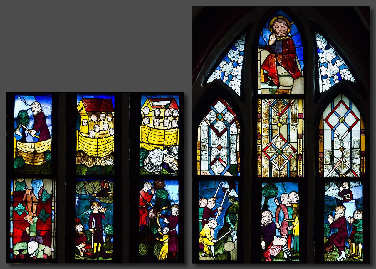Schöpfungsfenster nII Zeile 9 (lu) bis 13 (ro)