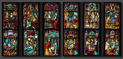 Christusfenster I, Zeile 1 (lu) bis 4 (ro)