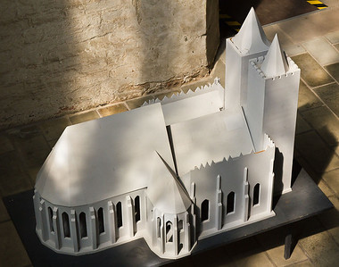 Frankfurt/Oder, St. Marien. Modell der Kirche