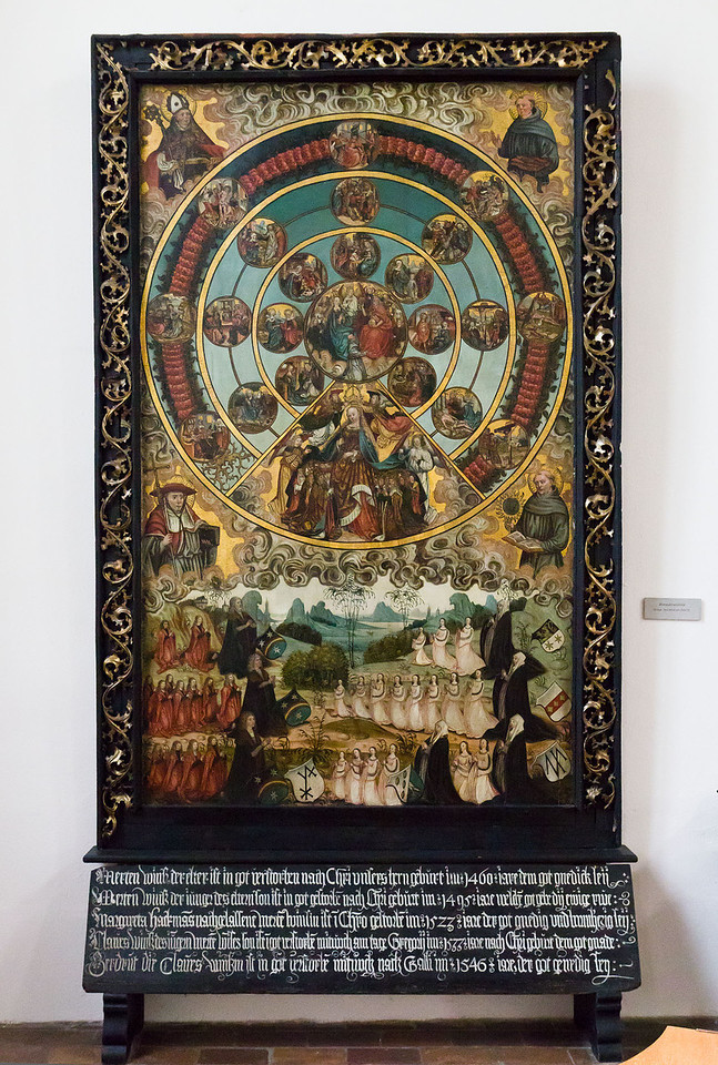 Frankfurt/Oder, St. Gertraud. Rosenkranzbild der Fam. Wiens (um 1535, aus St. Marien)