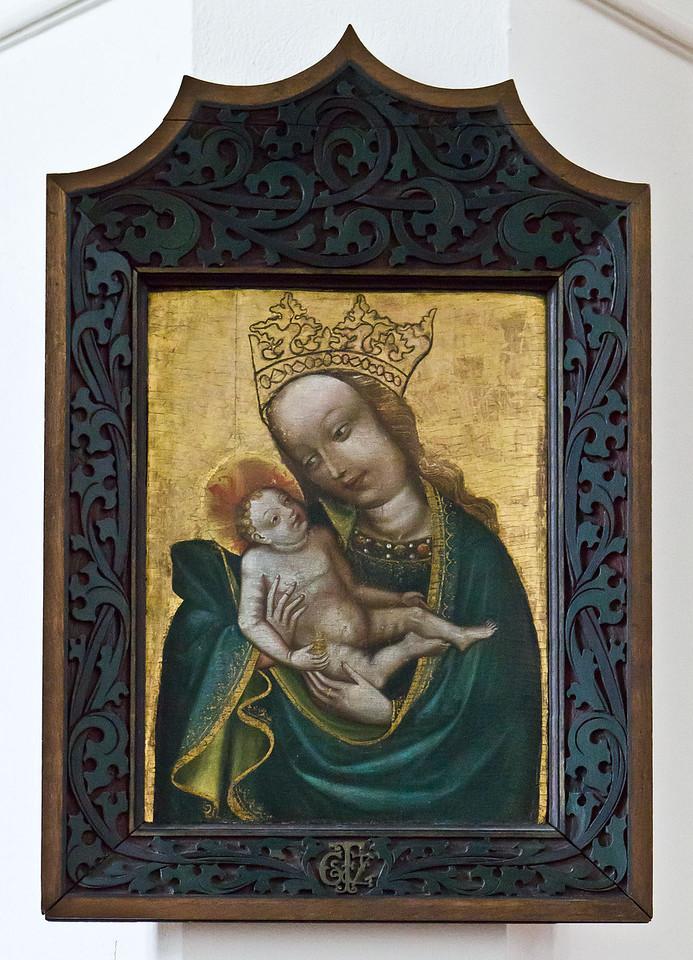 Frankfurt/Oder, St. Gertraud. Madonna mit Kind (1.H.15.Jh., aus St. Marien)