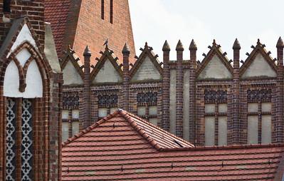 Frankfurt/Oder, St. Marien. Schauwand zu Markt und Rathaus, Detail