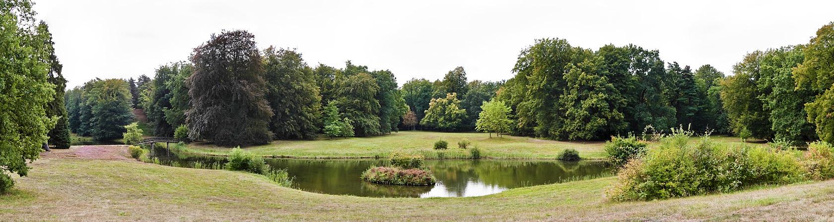 Branitz, Westpark, Schlangensee-Panorama