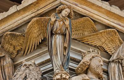 Dijon, Kartause. Mosesbrunnen: Moses, Engel und David