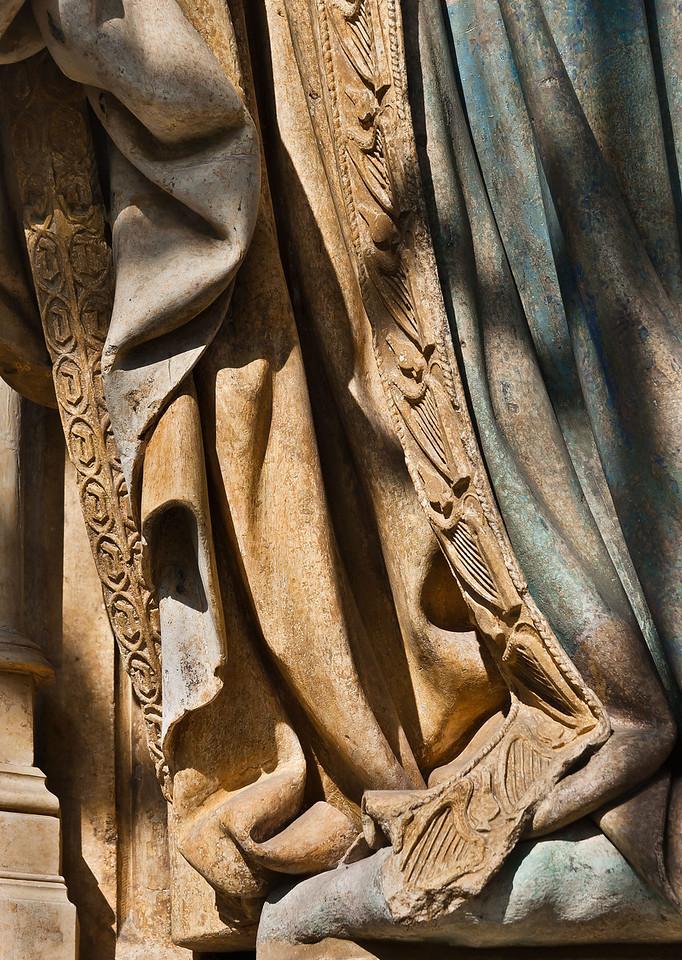 Dijon, Kartause. Mosesbrunnen: David, Detail Gewand
