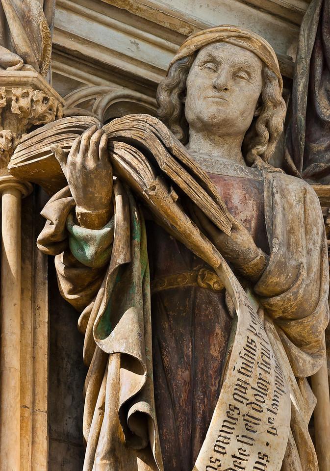 Dijon, Kartause. Mosesbrunnen: Jeremias, Detail