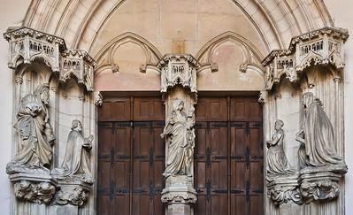 Dijon, Kartause von Champmol. Portal von Claus Sluter (1386-1401)