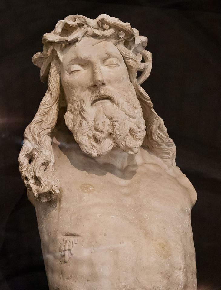 Dijon, Christus vom Mosesbrunen, in Untersicht [Arch. Museum]