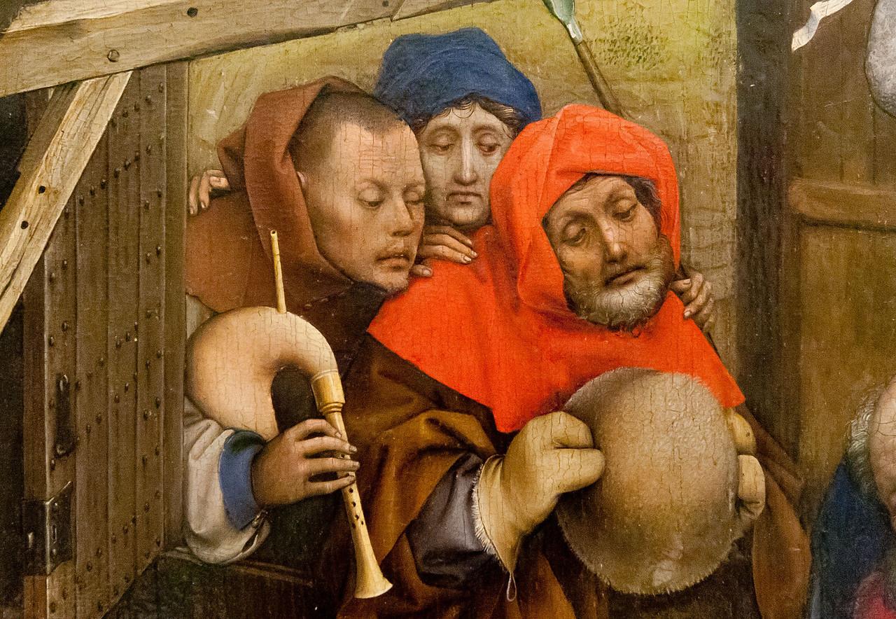 Meister von Flemalle: Geburt, Detail [Dijon, Musée des Beaux-Arts]
