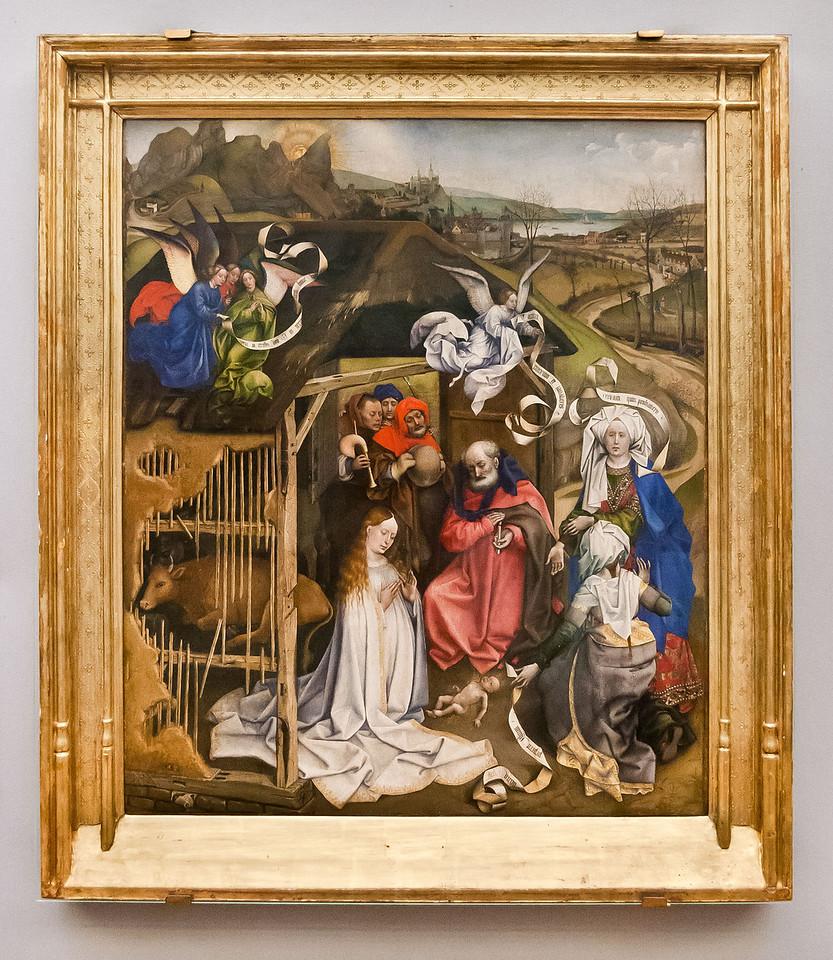 Meister von Flemalle: Geburt (um 1430) [Dijon, Musée des Beaux-Arts]