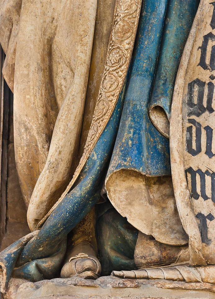 Dijon, Kartause. Mosesbrunnen: Daniel, Detail Fuß