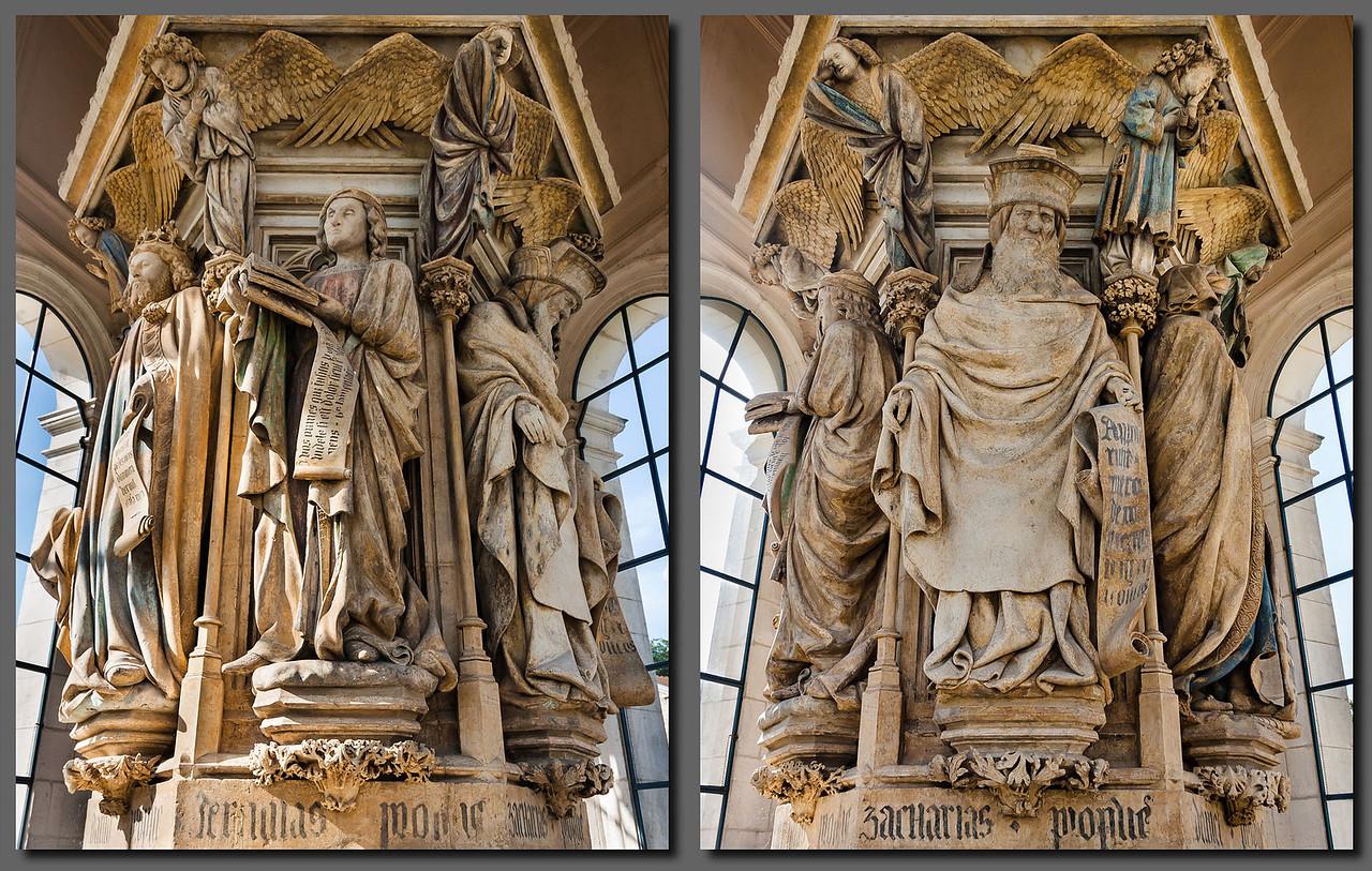 Dijon, Kartause. Mosesbrunnen: Jeremias, Zacharias (Sluter, de Werve)