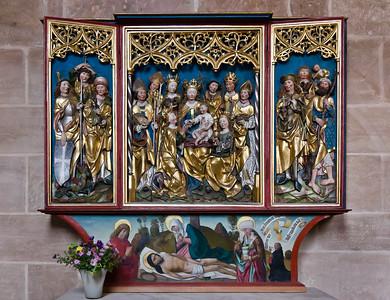 Heilsbronn, Münster: Vierzehnnothelferaltar (1498)
