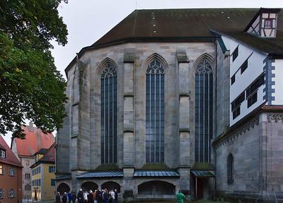 Dinkelsbühl. St. Georg: Chor von Norden