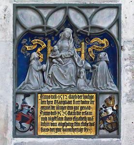 Dinkelsbühl. St. Georg: Epitaph Freer (Gregor Erhart?, vor 1512)