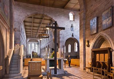 Heilsbronn, Münster: Blick vom Ostchor in Längsschiff und nördl. Seitenschiff