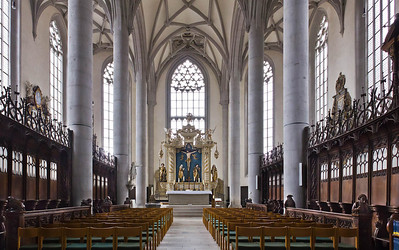 Nördlingen. St. Georg: Chor mit Hochaltar