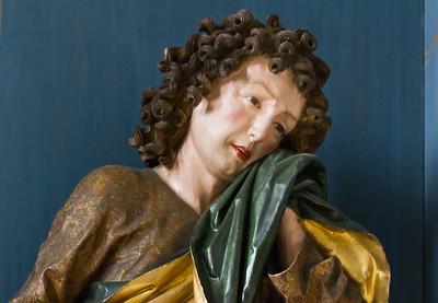 Nördlingen. St. Georg: Hochaltar, Johannes, Detail