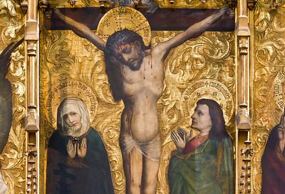 Nürnberg. Frauenkirche: Tucheraltar, der Gekreuzigte