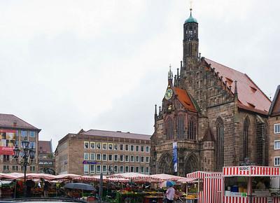 Nürnberg. Frauenkirche: ansicht von Westen