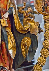 Nürnberg. St. Lorenz: Der englische Gruß, Detail