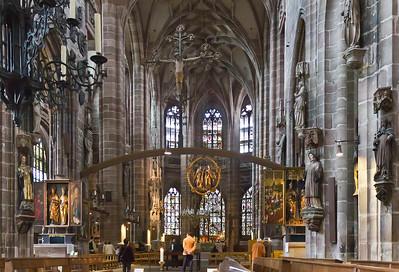 Nürnberg. St. Lorenz: Blick in Chor