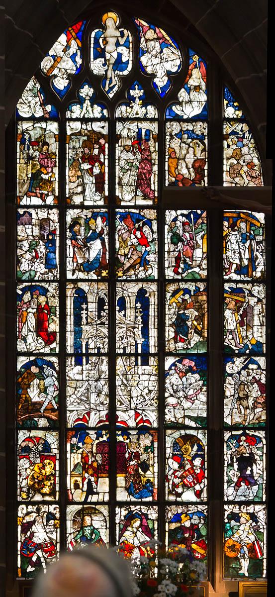 Nürnberg. St. Lorenz: Fenster I, Kaiserfenster (1477, Entwurf: Wohlgemut)