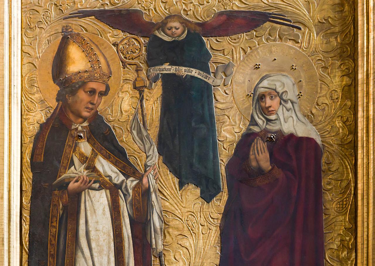 Nürnberg. Frauenkirche: Tucheraltar, Augustinus + Monika