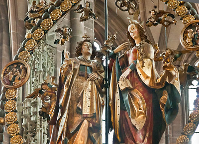 Nürnberg. St. Lorenz: Der englische Gruß (Veit Stoß, 1518)