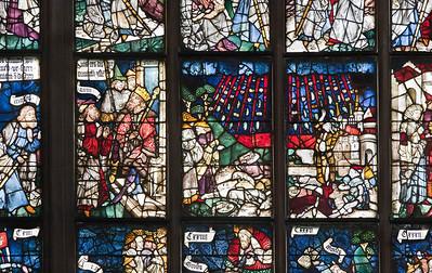Nürnberg. St. Lorenz: Rieterfenster (nIV, 1479). Mosesgeschichte: Heuschreckenplage