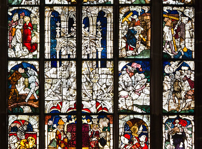 Nürnberg. St. Lorenz: Fenster I, Kaiserfenster, Detail