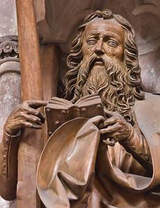 Nürnberg. St. Sebald: hl. Andreas, Detail