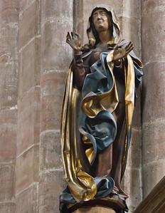 Nürnberg. St. Sebald: Maria der Kreuzigungsgruppe (Veit Stoß, 1506)