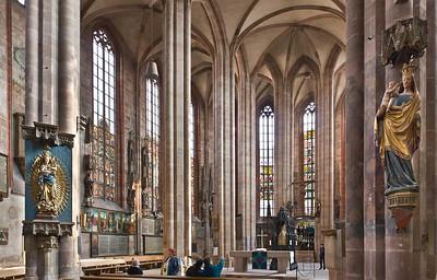 Nürnberg. St. Sebald: Hallenchor nach Nordost