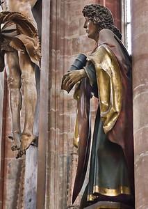 Nürnberg. St. Sebald: Johannes der Kreuzigungsgruppe (Veit Stoß, 1506)