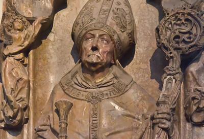 Würzburg. Dom: Grab Rudolf von Scherenberg, Detail (Tilman Riemenschneider, 1499)