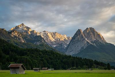 Alpspitze und Waxenstein